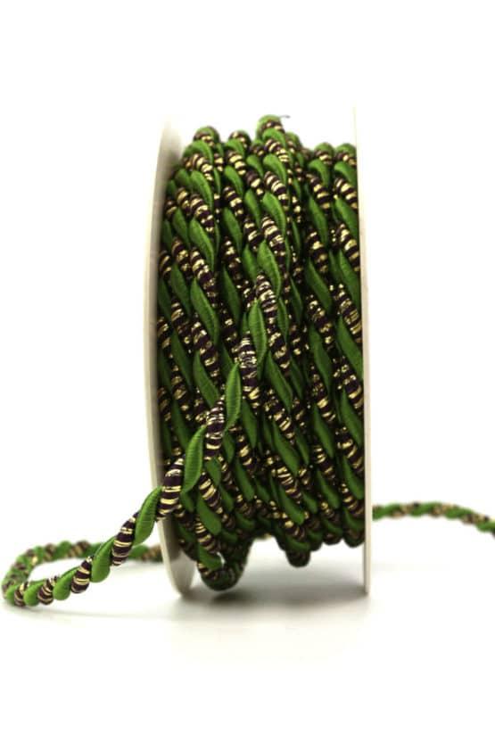 Kordel, 2-farbig grün-gold, 6 mm stark - kordeln, andere-baender