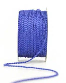 Kordel, königsblau, 2 mm stark - kordeln, andere-baender