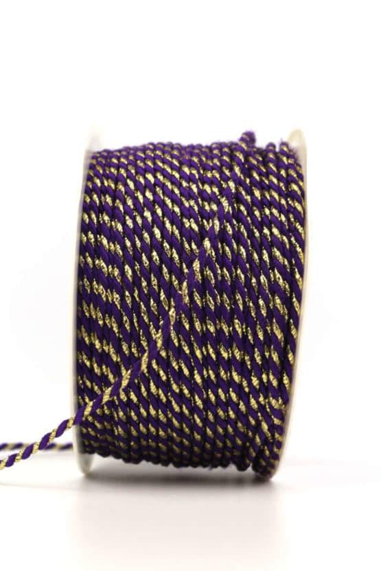 Kordel, 2-farbig lila-gold, 2 mm stark - kordeln, andere-baender