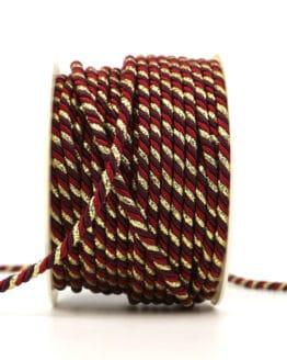 Kordel, 3-farbig rot-lila-gold, 4 mm stark - kordeln, andere-baender
