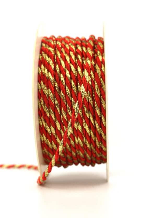 Kordel, 2-farbig rot-gold, 4 mm stark - kordeln, andere-baender