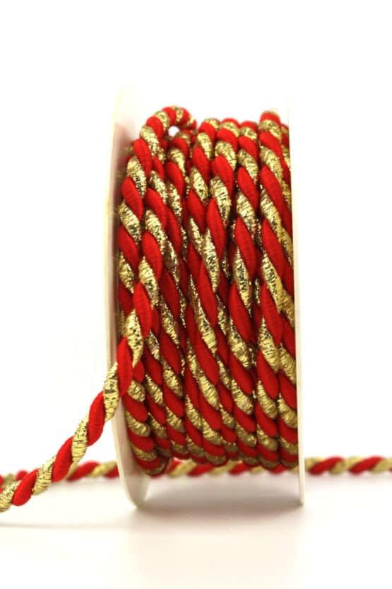 Kordel, 2-farbig rot-gold, 6 mm stark - kordeln, andere-baender