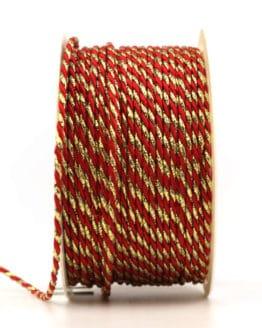 Kordel, 2-farbig rot-gold, 2 mm stark - kordeln, andere-baender