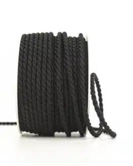 Kordel, schwarz, 2 mm stark - kordeln, andere-baender