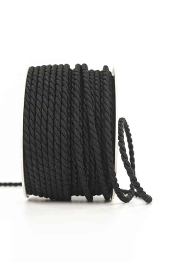 Kordel, schwarz, 4 mm stark - kordeln, andere-baender