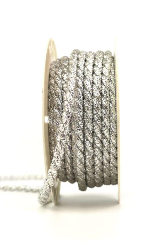 Kordel, silber, 6 mm stark - kordeln, andere-baender