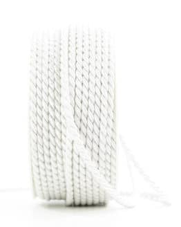 Kordel, weiß, 6 mm stark - kordeln, andere-baender