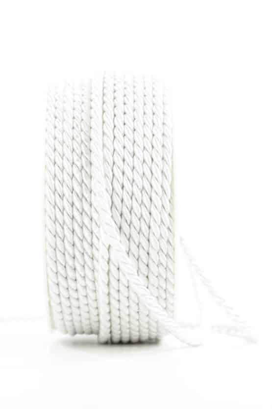 Kordel, weiß, 4 mm stark - kordeln, andere-baender