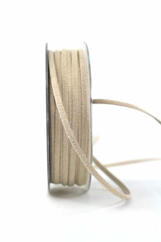 Kunstlederband beige, 5mm breit - dekoband