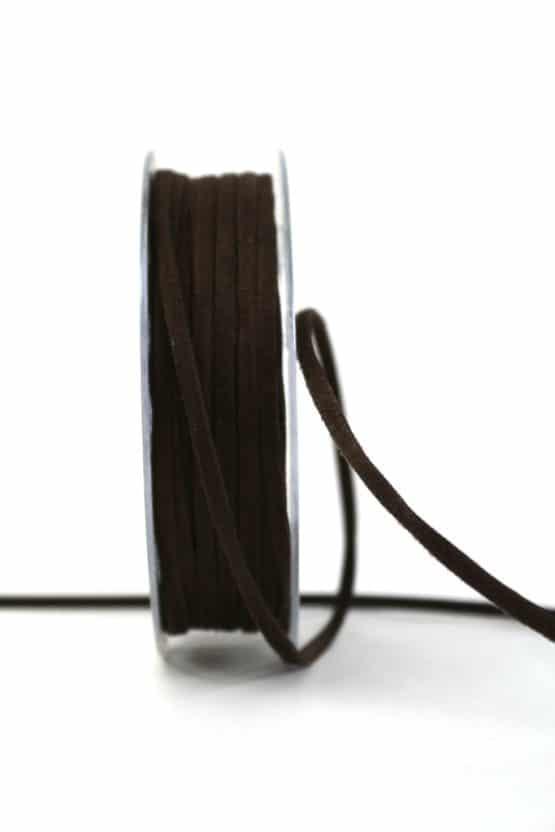 Kunstlederband braun, 5mm breit - dekoband
