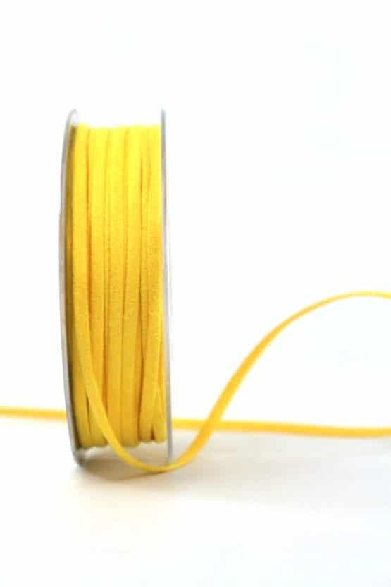 Kunstlederband gelb, 5mm breit - dekoband