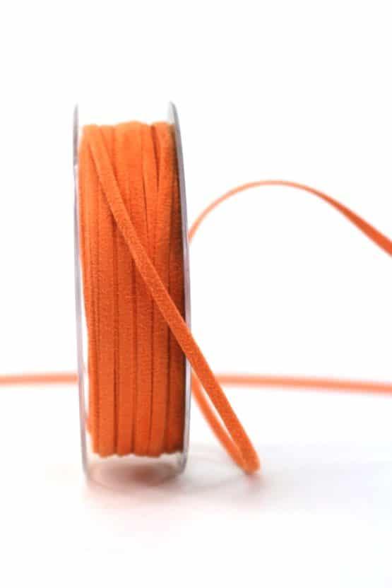 Kunstlederband orange, 5mm breit - dekoband