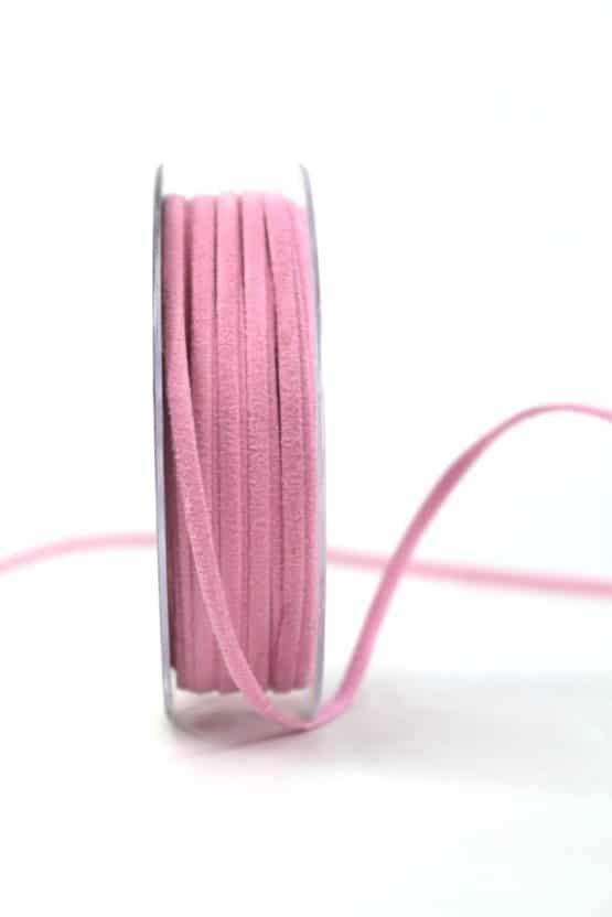 Kunstlederband rosa, 5mm breit - dekoband