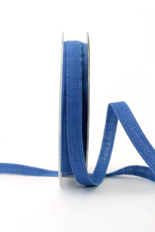 Leinenband jeansblau, 10 mm - geschenkband, geschenkband-einfarbig, dekoband