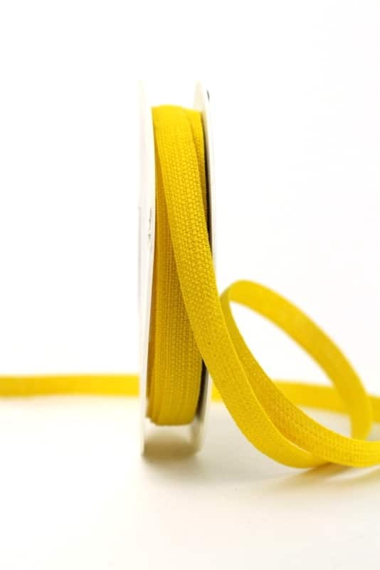 Leinenband gelb, 10 mm - geschenkband, geschenkband-einfarbig, dekoband