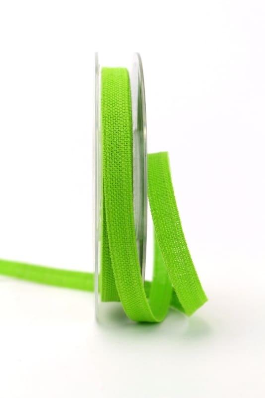 Leinenband hellgrün, 10 mm - geschenkband, geschenkband-einfarbig, dekoband