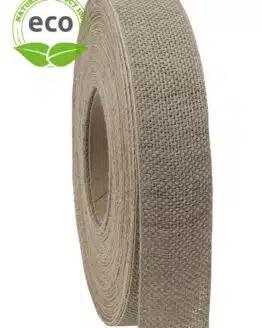 Nature Basic Leinenband, creme, 25 mm breit, ECO - kompostierbare-geschenkbaender, geschenkband, eco-baender, dekoband