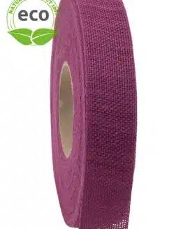 Nature Basic Leinenband, lila, 25 mm breit, ECO - kompostierbare-geschenkbaender, geschenkband, eco-baender, dekoband