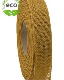 Nature Basic Leinenband, gelb, 25 mm breit, ECO - kompostierbare-geschenkbaender, geschenkband, eco-baender, dekoband