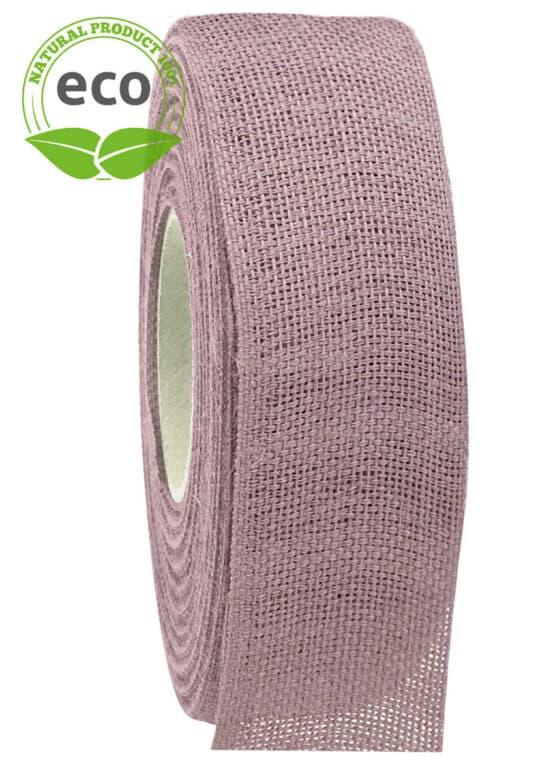 Nature Basic Leinenband, flieder, 40 mm breit, ECO - kompostierbare-geschenkbaender, geschenkband, eco-baender, dekoband