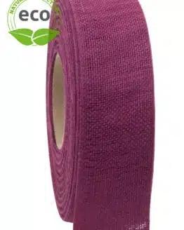 Nature Basic Leinenband, lila, 40 mm breit, ECO - kompostierbare-geschenkbaender, geschenkband, eco-baender, dekoband