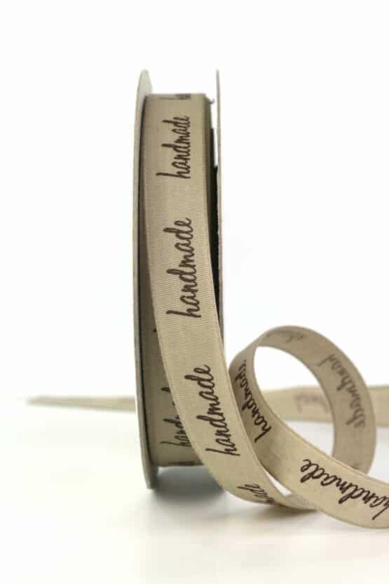 """Taftband """"Handmade"""", 15 mm breit - geschenkband, geschenkband-gemustert, dekoband"""