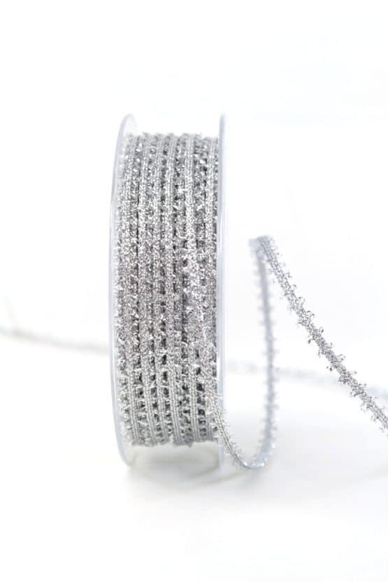 Lurexband, silber, 6 mm breit - geschenkband-weihnachten-einfarbig, geschenkband-weihnachten