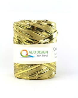 Metallraffia, gold metallic, 10 mm breit - raffia, polyband