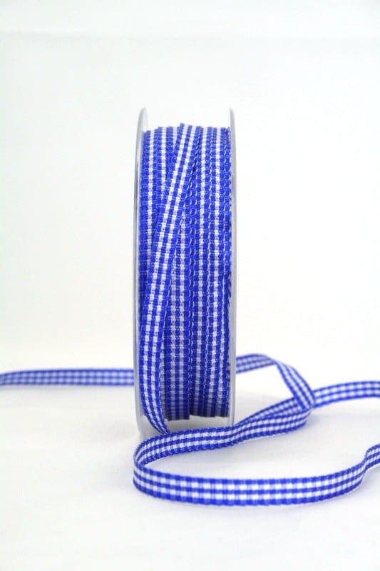 Vichy-Karoband blau, 6 mm breit - karoband, geschenkband-kariert