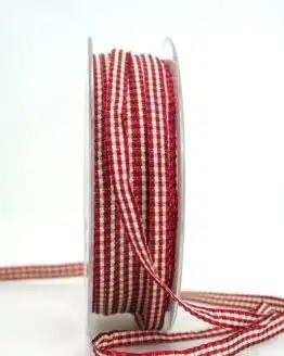 Vichy-Karoband dunkelrot, 6 mm breit - karoband, geschenkband-kariert