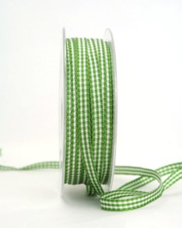 Vichy-Karoband grün, 6 mm breit - karoband, geschenkband-kariert