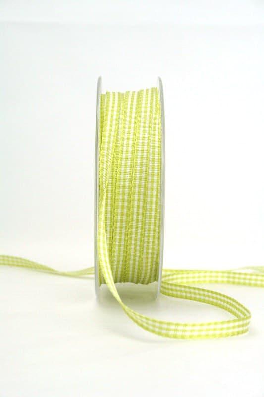 Vichy-Karoband hellgrün, 6 mm breit - karoband, geschenkband-kariert