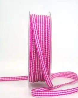 Vichy-Karoband pink, 6 mm breit - karoband, geschenkband-kariert