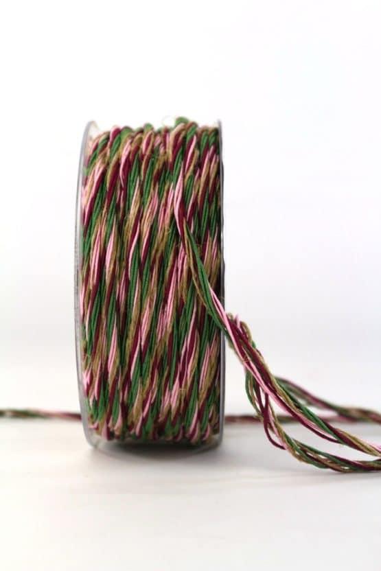 Multi-Kordel rosa-lila, 3 mm breit - geschenkband-weihnachten