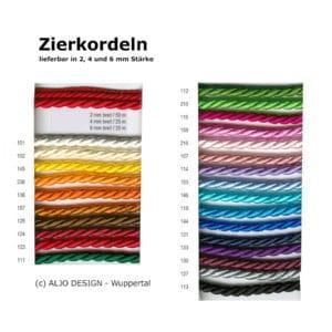 Farbmusterkarte-Satinband 22010