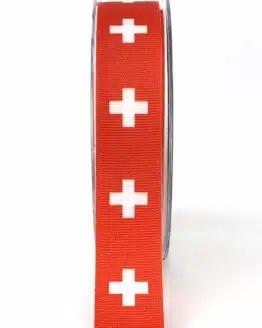 Dekoband Schweiz, 25 mm - nationalband