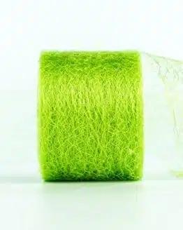 Netzband, hellgrün, 70 mm breit - outdoor-bander, netzband, geschenkband-einfarbig