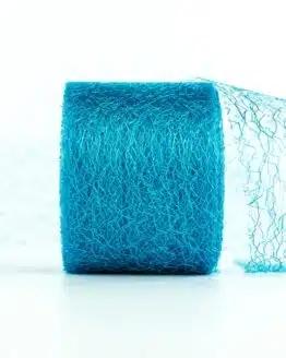 Netzband, türkis, 70 mm breit - outdoor-bander, netzband, geschenkband-einfarbig