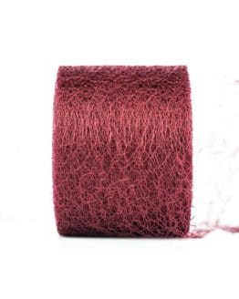 Netzband, bordeaux, 70 mm breit - outdoor-bander, netzband, geschenkband-einfarbig