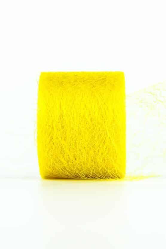 Netzband, gelb, 70 mm breit - outdoor-bander, netzband, geschenkband-einfarbig