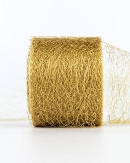 Netzband, gold, 70 mm breit - outdoor-bander, netzband, geschenkband-einfarbig