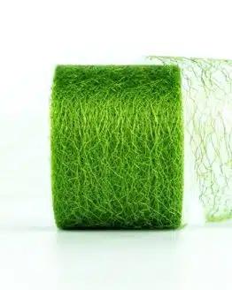 Netzband, grün, 70 mm breit - outdoor-bander, netzband, geschenkband-einfarbig
