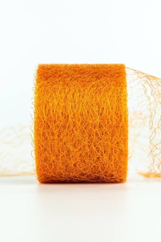 Netzband, orange, 70 mm breit - outdoor-bander, netzband, geschenkband-einfarbig
