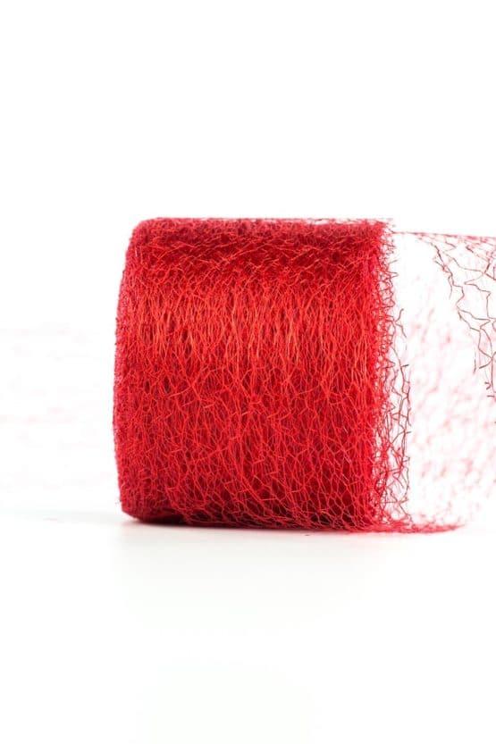 Netzband, rot, 70 mm breit - outdoor-bander, netzband, geschenkband-einfarbig