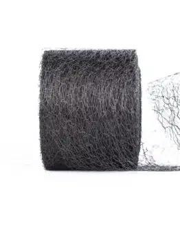 Netzband, schwarz, 70 mm breit - outdoor-bander, netzband, geschenkband-einfarbig