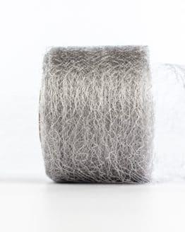 Netzband, silber, 70 mm breit - outdoor-bander, netzband, geschenkband-einfarbig