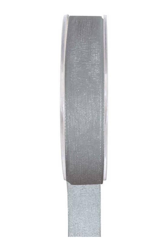 Organzaband BUDGET grau, 7 mm x 20 m Rolle - organzaband, organzaband-einfarbig