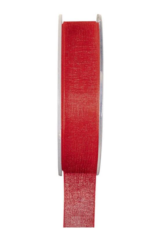 Organzaband BUDGET rot, 7 mm x 20 m Rolle - organzaband-einfarbig