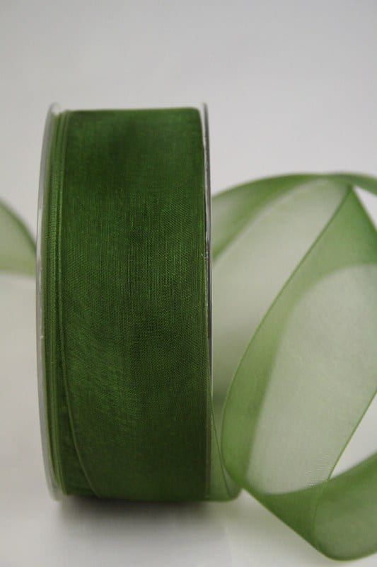 Organzaband 40 mm breit, mit Webkante - webkante, organzaband, organzaband-einfarbig, dauersortiment