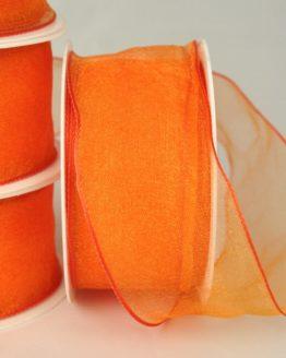 Organzaband mit Drahtkante, 40 mm, orange, 3 m Rolle - sonderangebot, organzaband, organzaband-mit-drahtkante, organzaband-einfarbig, 70-rabatt